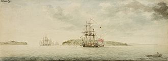 Botany Bay - Botany Bay, 1788 watercolour by Charles Gore