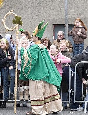 Saint Patrick's Festival in Dublin. Saint Patr...