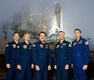 STS-36 - Image: STS 36 crew