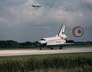 STS-71 chute deploy
