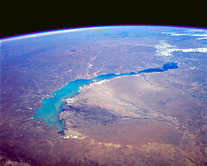 Lake Balkhash - View from Space, April 1991