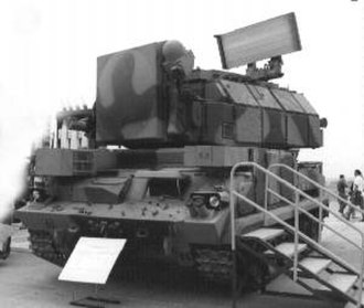 Tor missile system - A 9K332 TLAR with tracking radar covered.
