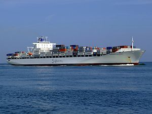 Safmarine Nokwanda p09 approaching Port of Rotterdam, Holland 20-May-2007.jpg