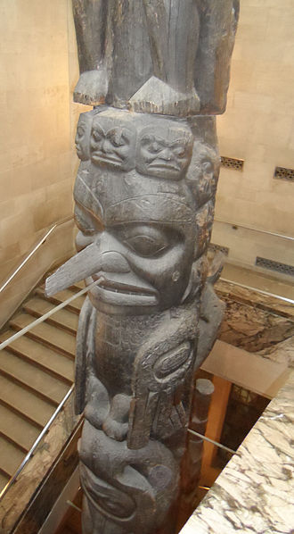 Nisga'a and Haida Crest Poles of the Royal Ontario Museum - Middle Section Dragonfly