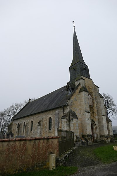 Saint-Quentin's church in Saint-Quentin-de-Blavou (Orne, Normandie, France).