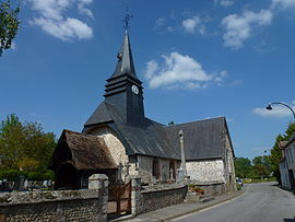 The church in Saint-Vincent-du-Boulay