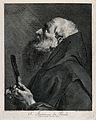 Saint Francis of Paula. Line engraving by M. Pelli after G.B Wellcome V0033458.jpg