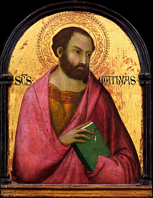 Saint Matthias - Saint Matthias from the workshop of Simone Martini