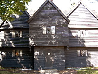 American colonial architecture - Corwin House, Salem, Massachusetts, built ca. 1660, First Period English
