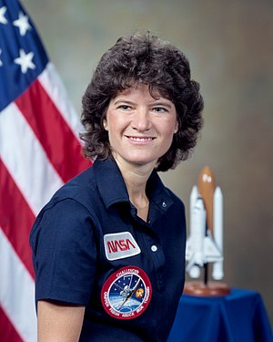Sally Ride, first American woman in space