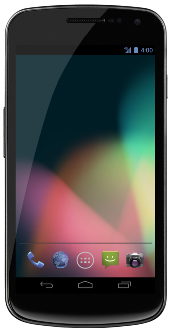 Galaxy Nexus, example of an Android phone