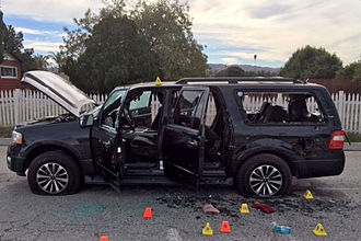 2015 San Bernardino attack - Image: San Bernardino shooting suspect vehicle
