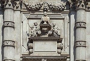 San Moisè, Venice - Image: San Moise (Venice) Cenotafio di Girolamo Fini , di Heinrich Meyring