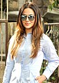 Sana Khan departs for IIFA Awards which is to be held in New York.jpg