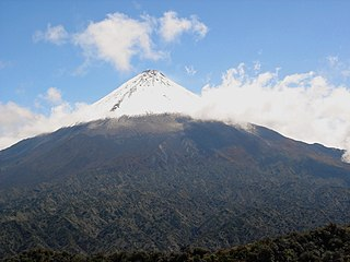 Sangay active stratovolcano in central Ecuador