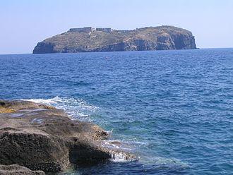 Ventotene - Image: Santo Stefano from Ventotene