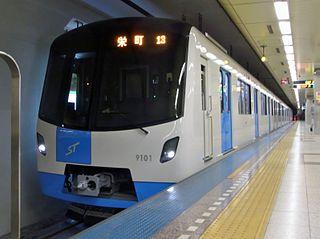 metro line in Sapporo, Hokkaido, Japan