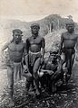 Sarawak; four native Punan tribesmen. Photograph. Wellcome V0037444.jpg