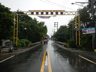 Quezon - Manila South Road, part of Pan-Philippine Highway (N1/AH26), in Sariaya.