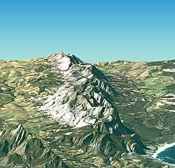 Satellite image of Cape peninsula, Kleinriviersberge.jpg