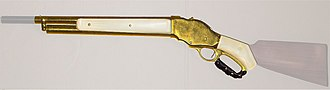 Winchester Model 1887/1901 - Gold plated Model 1887 Mare's Leg Reproduction