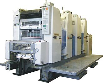 Offset printing - Ryobi 4 color offset press