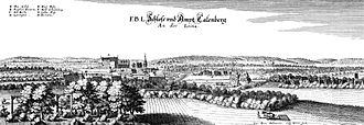 Calenberg Land - The Calenberg Land and Calenberg Castle in a  Merian engraving of 1654