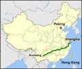Schnellfahrstrecke Shanghai–Kunming Location.png