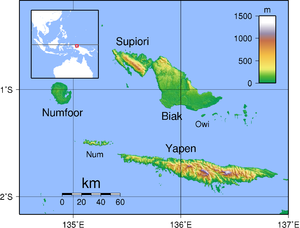 Battle of Biak - Image: Schouten Islands (IN) Topography