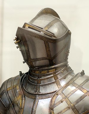 Armet - Armet made by Daniel Tachaux in 1915 to replace the missing original on an English Greenwich armour c. 1587.
