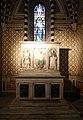 Scuola di donatello, ancona con madonna col bambino tra i ss. girolamo e domenico, xv secolo, 02.jpg