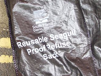 Bin bag - A bin bag designed to resist vermin. United Kingdom