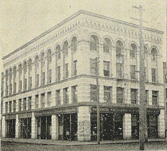 Union Trust Building (Seattle) - The building in 1900, before the construction of the annex.