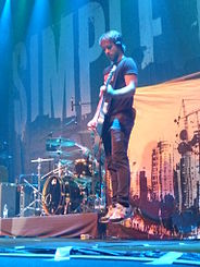 Sebastien Lefebvre of Simple Plan, jumping (Moscow, 18 August 2009).jpg