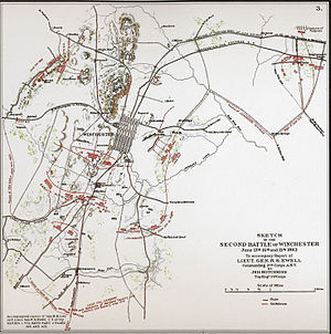 Second Battle of Winchester - Image: Second Winchester Map