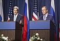 Secretary Kerry and Foreign Minister Lavrov in Geneva, September 2013.jpg