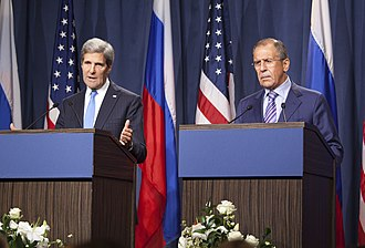 Destruction of Syria's chemical weapons - U.S. Secretary of State John Kerry and Russian Foreign Minister Sergey Lavrov on 12 September, at beginning of Syrian chemical weapons talks