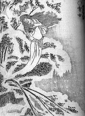 Yuki-onna - Yuki-onna (雪女) from the Gazu Hyakki Yakō by Toriyama Sekien