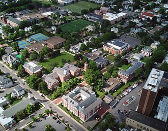 Wyoming Seminary - View of Wyoming Seminary's campus from above