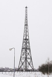 Gliwice Radio Tower today. It is the highest wooden structure in Europe. Sender gliwice.jpg