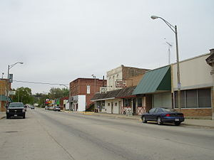 Seneca, Illinois - Business district in Seneca