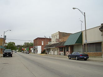 Seneca, Illinois - Business district in Seneca