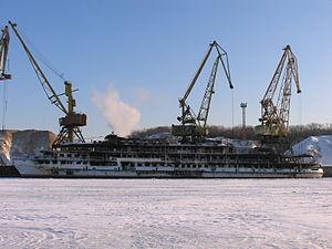 Sergey Abramov in North River Port 31-jan-2012 02.JPG