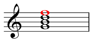 Seventh (chord) - Image: Seventh of a dominant seventh chord in C
