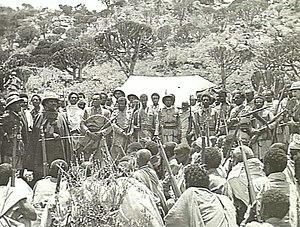 Battle of Amba Alagi (1941) - Image: Seyoum Mengesha addressing his troops
