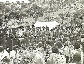 Battle of Amba Alagi (1941) - Image: Seyoum Mengesha addressing his troops