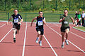 Sgmn Callanhan, Sgmn Wade and Cpl Fitzsimons all from 4th Fd CIS compete in the Mens 100M (4664576222).jpg