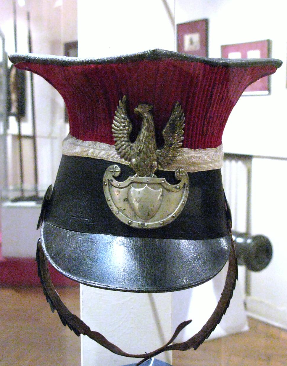 Shako of Polish National Guard in Lviv in 1848