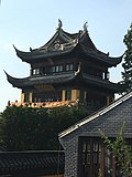 Shanghai Qingpu - Zhujiajiao - Yuanjin Buddhist Temple w Qinghua Pavillion IMG 8274.jpg