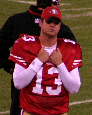 English: San Francisco 49ers quarterback Shaun...